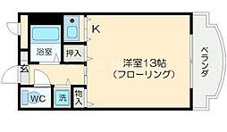 シャトレ豊津2[1階]の間取り