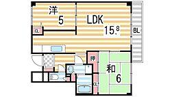 イーストマンション[905号室]の間取り