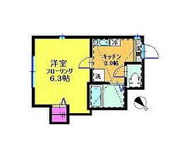 ラプラージュ横浜[201号室]の間取り