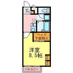 兵庫県小野市天神町の賃貸アパートの間取り