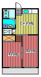 埼玉県川口市西青木4丁目の賃貸アパートの間取り