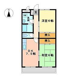 栃木県宇都宮市戸祭3丁目の賃貸マンションの間取り