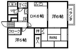 シーサイドマンションとにいわんA棟[1階]の間取り
