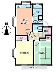 ビエント・松ケ丘[2階]の間取り