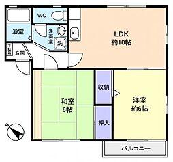 ミラHANASHIMA[1階]の間取り