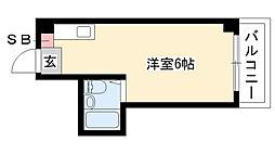 愛知県名古屋市昭和区狭間町の賃貸マンションの間取り