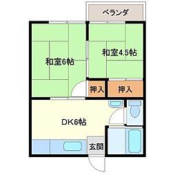 川崎ハイツ[1階]の間取り