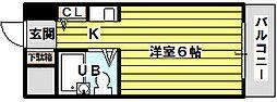 大阪府大阪市東淀川区菅原7丁目の賃貸マンションの間取り