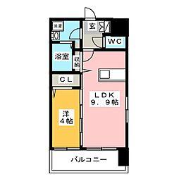 ASレジデンス博多駅南[6階]の間取り