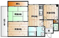 片野レジデンシャルビル[7階]の間取り