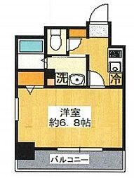 グリフィン横浜・東口 8階1Kの間取り