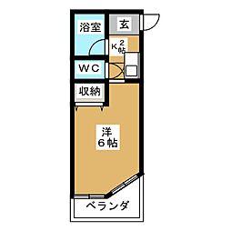 テレサイト植田[1階]の間取り