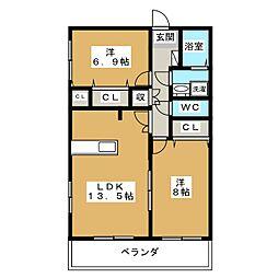 NOBLE II[2階]の間取り