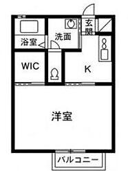 ジュネス井野J[1階]の間取り
