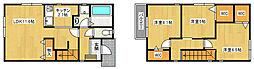 [一戸建] 兵庫県尼崎市武庫之荘7丁目 の賃貸【/】の間取り