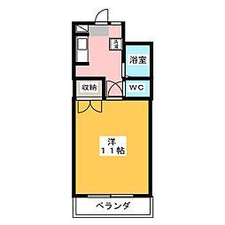メゾン清里[6階]の間取り