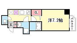 アドバンス三宮ステージア[9階]の間取り