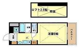 エステムコート大阪中之島南[6階]の間取り