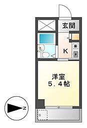 ドール堀田III[6階]の間取り