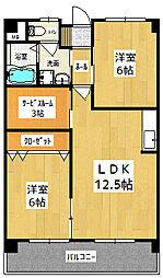 Promenade Villa I[2階]の間取り