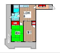 メゾンセレステ[5階]の間取り