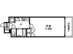 クリスタルグランツ梅田[5階]の間取り