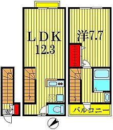 [テラスハウス] 東京都墨田区東向島2丁目 の賃貸【東京都 / 墨田区】の間取り