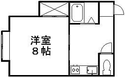 ハイツ日本海[202号室]の間取り