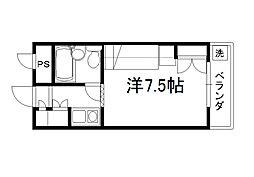 セレーネ田辺3A[301号室]の間取り