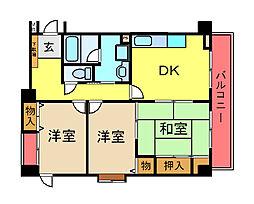 ランドマーク21マンション[205号室]の間取り