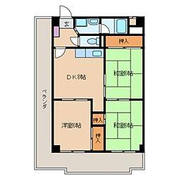 ボラードマンション[5階]の間取り