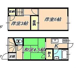 [テラスハウス] 兵庫県神戸市垂水区高丸2丁目 の賃貸【/】の間取り