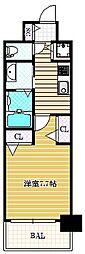 エステムコート南堀江IIIチュラ[4階]の間取り