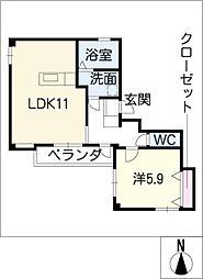 GRANKOU[2階]の間取り
