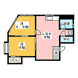 Dフラット東別院[5階]の間取り