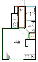 JR中央本線 西荻窪駅 徒歩15分の賃貸アパート 1階ワンルームの間取り