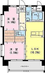 アンシャンテ・S[7階]の間取り