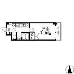 ピーコックハウスII[703号室号室]の間取り