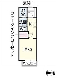 グリーンフジIII[2階]の間取り