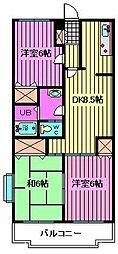 コート浦和[1階]の間取り