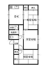 第5クローバハイツ[2階]の間取り