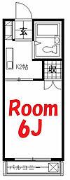神奈川県横浜市旭区鶴ケ峰2丁目の賃貸アパートの間取り