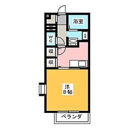 静岡県静岡市駿河区国吉田1丁目の賃貸アパートの間取り