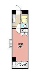 KMマンション八幡駅前II[607号室]の間取り