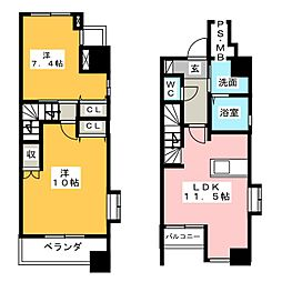 Casa Pino(カーサピーノ)[2階]の間取り