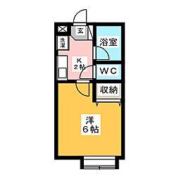 ピュア小豆坂[1階]の間取り