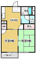 ヤマニハイツ[103号室]の間取り