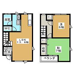 メゾネットK B[2階]の間取り