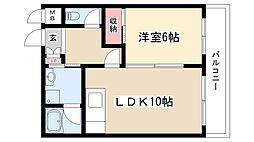愛知県名古屋市瑞穂区下山町2丁目の賃貸マンションの間取り