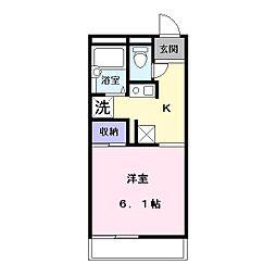 レオパレス冨田3[1階]の間取り